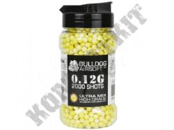 2000 x 6mm x 12g Yellow White Ultra Mix Polished Airsoft BB Gun Pellets